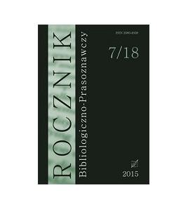 Rocznik Bibliologiczno-Prasoznawczy, t. 7/18