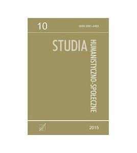 Studia Humanistyczno-Społeczne, t. 10