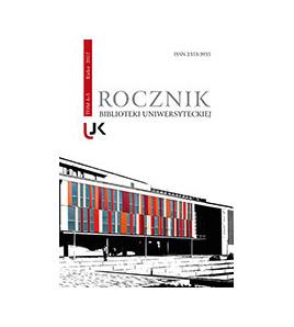 """""""Rocznik Biblioteki Uniwersyteckiej"""",  t. 4-5"""