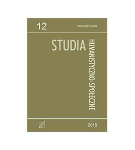 Studia Humanistyczno-Społeczne, t. 12