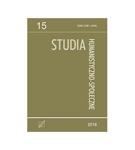 Studia Humanistyczno-Społeczne, t. 15