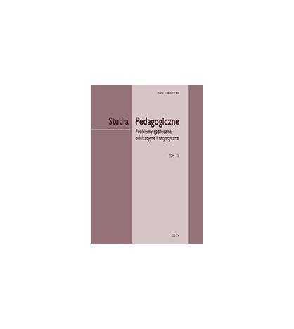 """""""Studia Pedagogiczne. Problemy społeczne, edukacyjne i artystyczne"""",  t. 33"""
